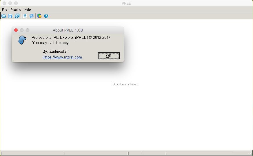 PE analysis using PPEE in macOS Sierra