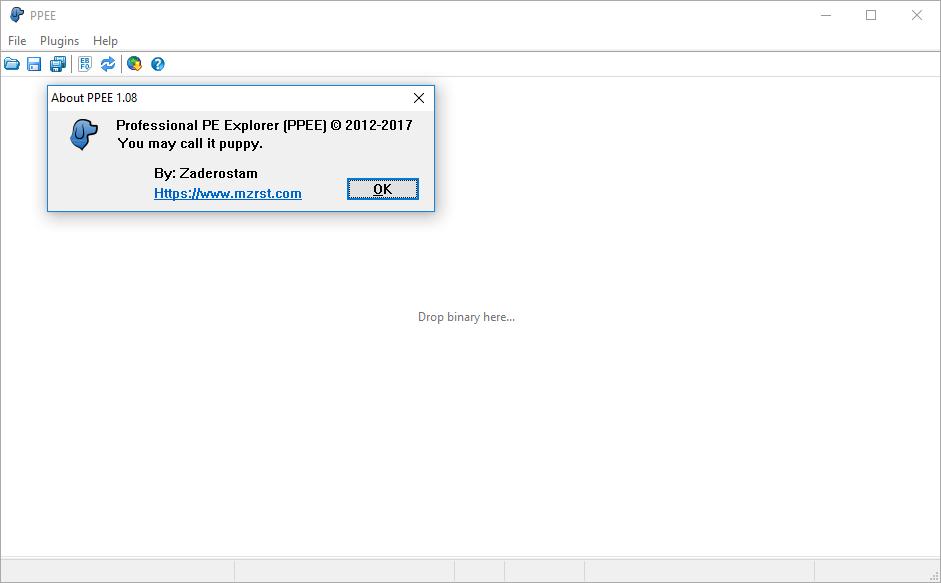 PE analysis using PPEE in Windows 10
