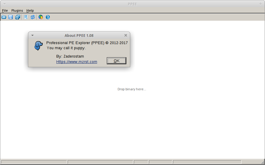 PE analysis using PPEE in Xubuntu